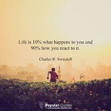 Funny Inspirational Life Quotes Cool Popular Quotes Life Is 48% What Happens To You And 48% How You