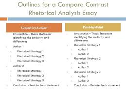 day four ppt video online  outlines for a compare contrast rhetorical analysis essay