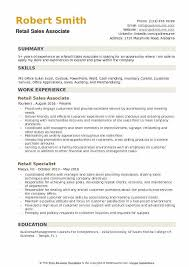 Resume Examples For Retail Sales Associate Retail Sales Associate Resume Samples Qwikresume