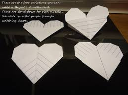 Make Index Cards Origami Index Card Heart How To Fold An Origami Shape