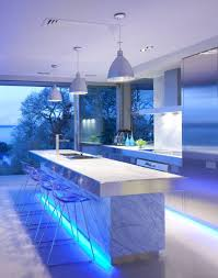Creative Kitchen Island Creative Kitchen Storage With Kitchen Island And Blue Lighting