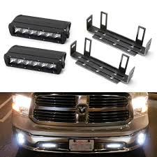 2018 Dodge Ram 1500 Light Bar Lower Bumper Led Light Bar Kit For 2011 18 Dodge Ram 1500 2 30w High Power Cree Led Lightbars Tow Hook Opening Area Brackets Wiring Switch