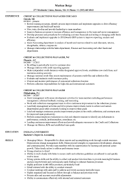 Credit Collections Manager Resume Samples Velvet Jobs