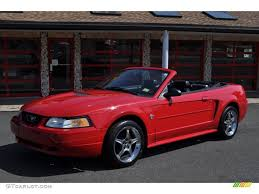 1999 Laser Red Metallic Ford Mustang V6 Convertible #53247753 ...