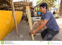 man building bamboo furniture editorial photo building bamboo furniture