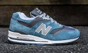 new balance blue. new balance 997 makes a triumphant return in blue and grey | highsnobiety