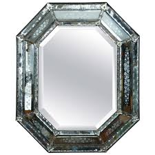 venetian mirror with mercury glass etched frame circa 1840 for