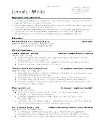 Nursing Resume Samples New Grad Recent Graduate Resume Examples New