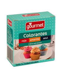 Colorantes Rojo Amarillo Azul Gourmet Colorante Azul L