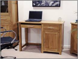 country varnished oak wood computer desk with cabinet charming small table with drawers furniture