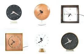 desk clocks modern amazing of mid century modern desk clock nelson table clocks the mid century