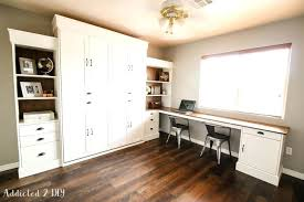 murphy bed office desk combo. Murphy Bed Office Combo. Diy With Desk Modern Farmhouse Modifications Combo .