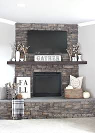 Fall Home Tour. Rustic Fireplace ...