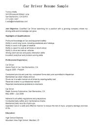 truck driver resume example 12868