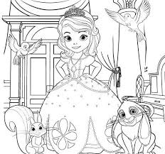 Sofia The First Coloring Page Disney Family