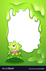 A Green Monster In A Green Border Design Vector Image