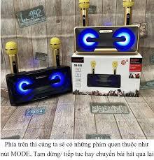 Loa Karaoke Hàng Nhật Mini Micro Kèm LoaMic Hát Cầm Tay - Loa Bluetooth  Karaoke SDRD SD-301 Kèm 2 Mic Không Dây Loa karaoke xách tay di động Loa  karaoke bluetooth kiêm