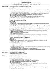 resume system administrator junior system administrator resume samples velvet jobs