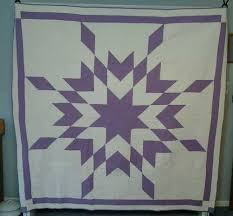 72 best quilts - purple and white images on Pinterest | Quilting ... & Lavender Purple and White Starburst Antique Handsewn Quilt | eBay Adamdwight.com