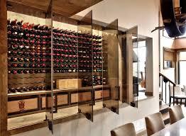 wine cellar furniture. Rustic Modern Wine Cellar With Glass Doors Furniture