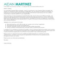 General Employment Cover Letter Best Admin General Manager Cover Letter Examples Livecareer