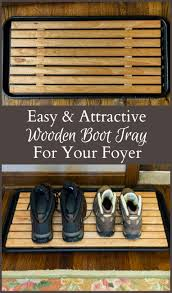 Decorative Boot Tray DIY Attractive Wooden Boot Tray For Your Foyer Boot tray Foyers 31