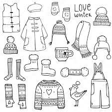 服の冬の要素を持つパターン ストックベクター Lunter 125606448
