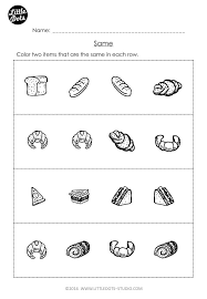Free Same and Different Worksheet for Pre-K | Free Pre-K Math ...