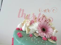 Pink And Teal Drippy 30th Birthday Cake White Rose Cake Design