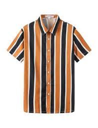 APRAW <b>Men's</b> Striped Shirts <b>Casual</b> Short Sleeves <b>Loose Fit</b> Button ...