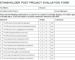 Stakeholder Feedback Form Template Project Report Word 5