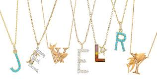 the adventurine posts what s hot now the new initial necklaces