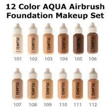 <b>Temptu Pro</b> 12 Color <b>Aqua</b> Airbrush Makeup Foundation Set in 1 ...
