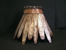 rustic lamp shades custom iron rawhide by creations studio rustic lamp shade