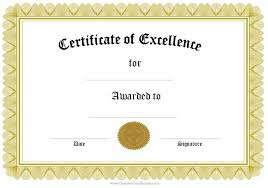 Award Certificate Template Free Award Certificate Design Template