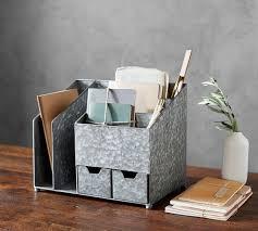 desk organizer. Simple Organizer Brokers Galvanized Multi Desk Organizer And S