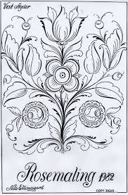 Rosemaling Patterns Norway Rosem