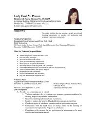Resume Sample For Nursing Job new grad resume sample Enderrealtyparkco 41