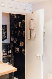 Door To Pantry With Blackboard Paint Wall - Gemma's Modern Industrial  Festive Apartment Tour