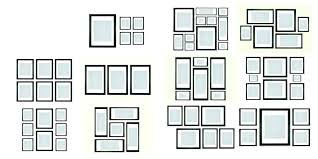 wall picture frame collage kit template photo icon gallery layout wall picture frame collage kit template