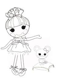 Small Picture Giving Task for Kids to Have Lalaloopsy Coloring Pages