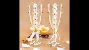 Wine glass decorating ideas for weddings Brilliant Wedding Wine Glass Decorating Ideas Mypart Home Wedding Wine Glass Decorating Ideas Wedding Decorations Referance