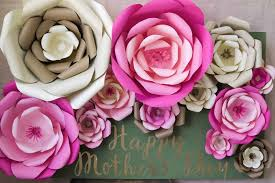 Cardstock Paper Flower How To Make Large Paper Flowers