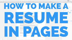 How To Make A Resume In Pages For Mac Youtube
