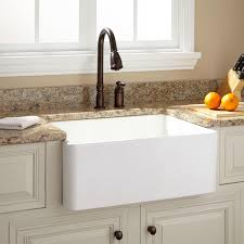 White Apron Kitchen Sink 26 Baldwin Fireclay Farmhouse Sink Smooth Apron White Kitchen