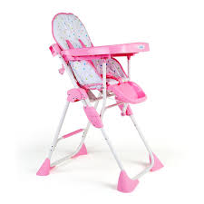 Comfy Baby High Chair Pink baby girl pink high chair Sheepskin Cover