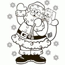 Santa Coloring Page Free Christmas Recipes Coloring Pages For