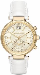 women s michael kors sawyer chronograph white leather strap watch mk2528 9 gif jpg