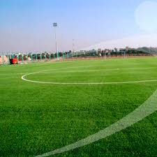 green grass soccer field. Synthetic Grass / Roll For Soccer Fields Green Field