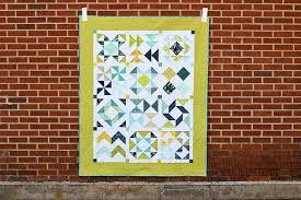 In Color Order: Half-Square Triangle Block of the Month & Half-Square Triangle Block of the Month Quilt by Jeni Baker Adamdwight.com